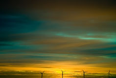 Sunset Wind Royalty Free Stock Photography