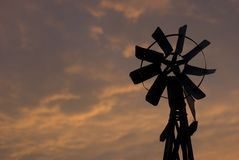 Sunset Windmill Stock Photos