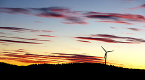 Sunset windmills Royalty Free Stock Photography