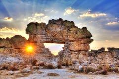 Sunset window Madagascar Royalty Free Stock Photo