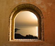 Sunset through the windows Royalty Free Stock Photography