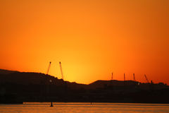 Sunset in winter day in Rio de Janeiro Royalty Free Stock Image