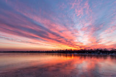 Sunset in winter Stock Photo