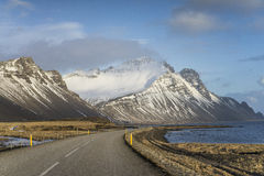 Driving on Ring Road around the South of Iceland. Stock Photos