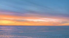 Sunset in winter Stock Photo