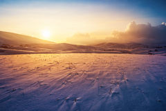 Sunset winter landscape Royalty Free Stock Photos