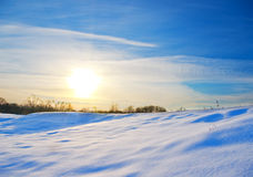 Sunset in winter time Stock Photography