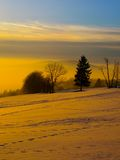 Sunset in wintertime Stock Photo