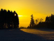 Sunset in wintertime Stock Photography
