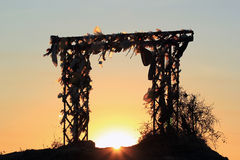 Sunset in wish gate Stock Photography