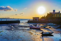 Free Sunset With Docks And Sea Royalty Free Stock Photos - 95087228
