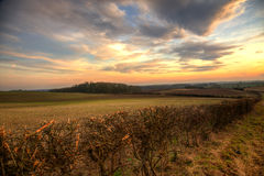 Sunset in wolds Stock Photo