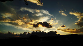 Sunset. Wonderful games of clouds at sunset Stock Photography