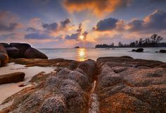 The sunset view wonderfull Indonesia Royalty Free Stock Photo