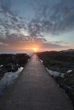 Sunset Woolacombe North Devon coast stock image