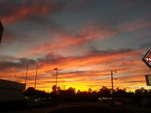 Sunset. While at work Stock Photography