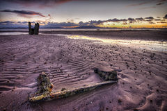 Sunset wreck Royalty Free Stock Image