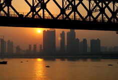 Sunset in Wuhan Stock Images