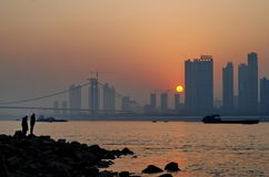 Sunset in Wuhan Stock Photo