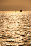 Sunset in Xiamen port, southeast China Royalty Free Stock Photo