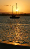 Sunset Yacht Royalty Free Stock Photos