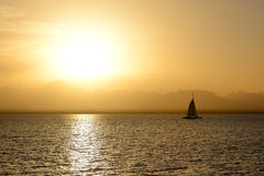 Sunset and yachts on Red Sea Royalty Free Stock Images