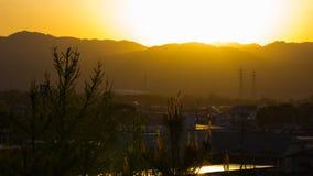 Sunset in Yamaguchi. Beautiful Sunset in Yamaguchi University Stock Photo