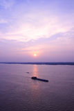 Sunset of the yangtze river Stock Photo
