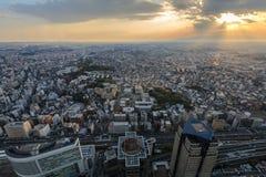 Sunset in Yokohama stock images
