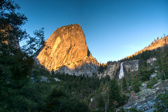 Sunset in Yosemite park Stock Image