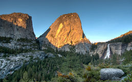 Sunset in Yosemite park Stock Photography