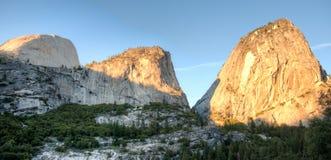 Sunset in Yosemite park Stock Photo