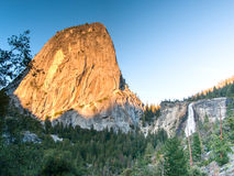Sunset in Yosemite park Royalty Free Stock Photography