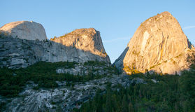 Sunset in Yosemite park Royalty Free Stock Images