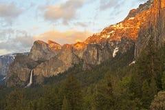 Sunset on Yosemite Southern Rim Stock Images