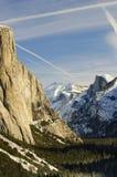 Sunset on Yosemite valley Stock Photos