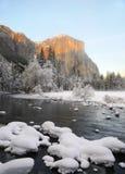 Sunset on Yosemite valley Royalty Free Stock Photography