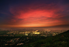 Sunset in Yuen Long Stock Images