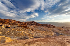Sunset Zabraskie point, Death Valley National park Stock Image
