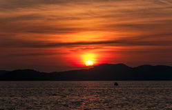 Sunset in Zadar Stock Image