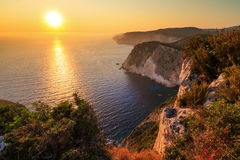 Sunset Zakynthos Stock Photography