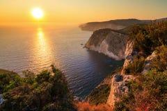Sunset Zakynthos stock photography