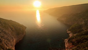 Sunset Zakynthos timelapse. Beautiful full HD timelapse video of a summer sunset of the rocky coast of the island of Zakynthos, Greece stock video footage