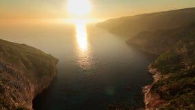 Sunset Zakynthos timelapse stock video footage