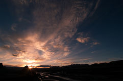Sunset in Zanda, Tibet Stock Photography