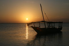 Sunset at Zanzibar Stock Images