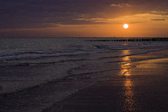 Sunset. In Zeeland, the Netherlands Europe Stock Photo