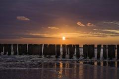 Sunset. In Zeeland, the Netherlands Europe Royalty Free Stock Image