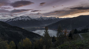 Sunset in Zell am See Stock Photos