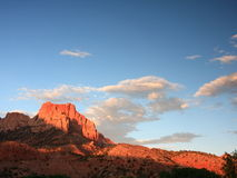 Sunset in Zion park Stock Image